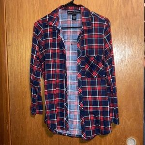 Red/Blue/White Long Sleeve Flannel